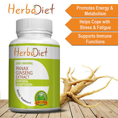 Korean Red Panax Ginseng Extract 80% Ginsenosides Capsules Boosts Energy Stamina