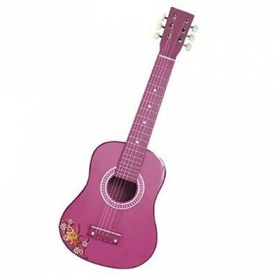 Reig 62.5cm Spanish Wooden Guitar (Pink). Shipping Included