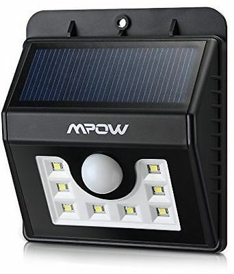 (8 Bright Nodes) LED Solar Lights, Mpow® 3-in-1 Wireless Waterproof Security 3