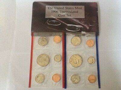 1996 P and D US Mint Uncirculated Coin Set 10 Coins
