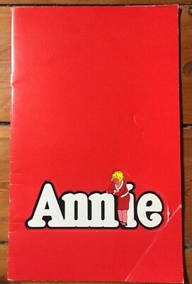 Annie Musical Program Programme Adelaide1980 Hayes Gordon Festival Theatre Rare