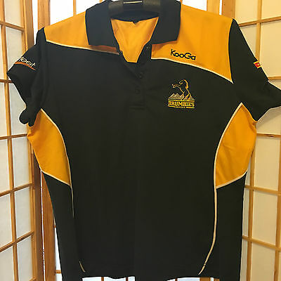 """brumbies"" Rugby Ladies Polo T Shirt. Size ""18"