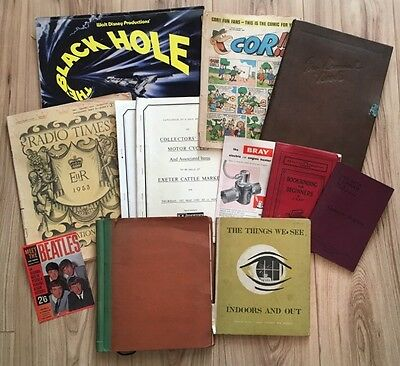 Collection of Interesting Vintage Ephemera, 2kgs, 1950's-1980's SEE PICTURES