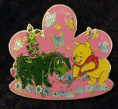 DLR Topiary Collection Winnie Pooh Eeyore & Piglet Surprise Release LE 750 pin