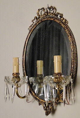 Antique french Louis XV style Central glass mirror • CAD $499.62