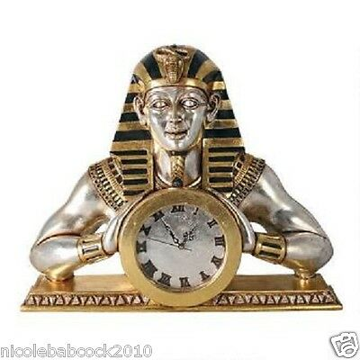 Egyptian Temple of Heliopolis heavy wall mantle sculptural clock - 16 lbs • CAD $381.01