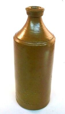 1860s STONEWARE SALT GLAZED MASTER INK BOTTLE BOURNE & SON P J ARNOLD ENGLAND