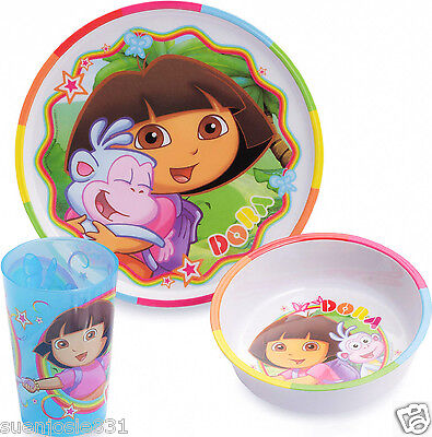 Dora The Explorer Mealtime Dinnerware Meal Set 3pcs by ZAK