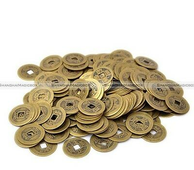 100 PIECES VERITABLE PIECE DE QIAN LUNG 2.5 cm feng shui