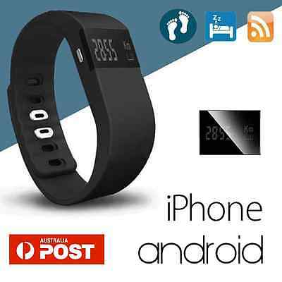 Sport Fitnes Tracker Fitbit Style Smart Wristband Watch Bluetooth Black Colour