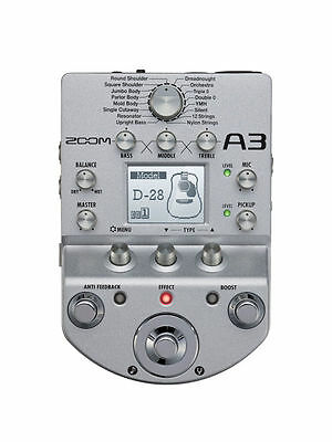 NEW ZOOM A3 Multi-Effects Processor for Guitarists