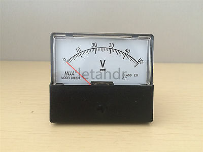 Analog Volt Voltage Panel Meter Voltmeter From DC 0-15V 0-30V 0-50V To DC 0-300V