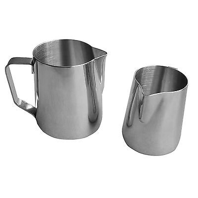 TOP 12/20oz Milk Jug Frothing Pitcher Latte Espresso Coffee Stainless Steel