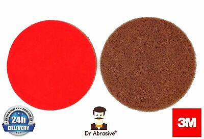125mm 3M Scotch Brite Hook and Loop Wet or Dry Sanding Discs Assorted Pack of 5