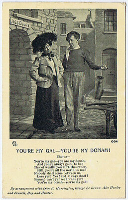 You're My Gal, You're My Donah, Postally Used Postcard 1910