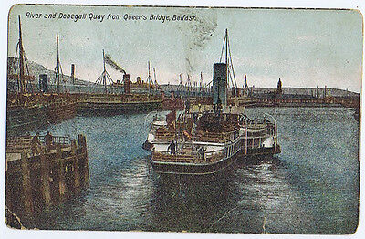 BELFAST River and Donegall Quay From Queen's Bridge, Vintage Postcard Unused