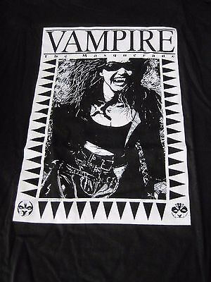 Vampire The Masquerade Vintage Large T-Shirt White Wolf Game Studio