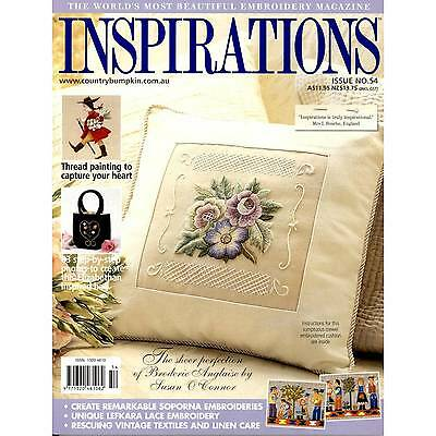 Inspirations Issue #54 Embroidery Magazine Sewing Inc Patterns - New