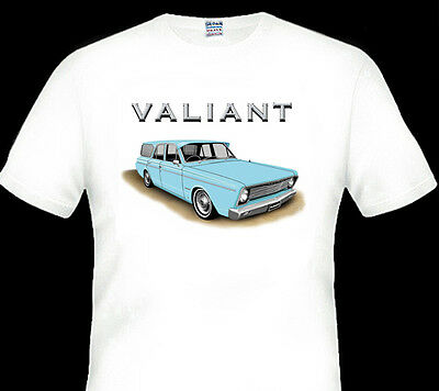 Valiant  Vc  Safari  Station Wagon  White Tshirt    Men's Ladies  Kid's Sizes