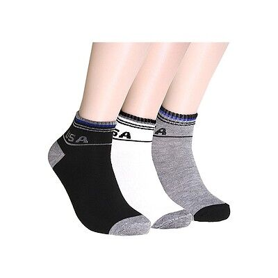 New 6-12 Pairs Ankle Quarter Crew Mens Womens Socks Cotton USA Casual 9-11 10-13