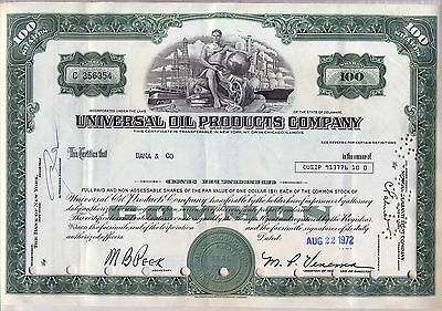 Universal Oil Products Company Stock Certificate