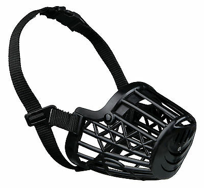 Plastic Cage Dog Muzzle Close Mesh Fully Adjustable Extra Large Dogs XL - 35cm