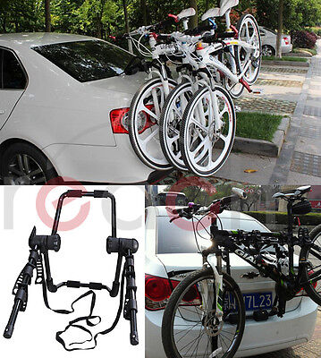 New 3-Bike Trunk-Mount Hatchback SUV or Car Sport Bicycle Carrier