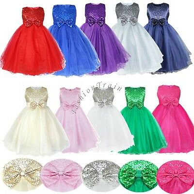 Flower Girls Dress Princess Wedding Bridesmaid Tulle Gown Birthday Party Pageant