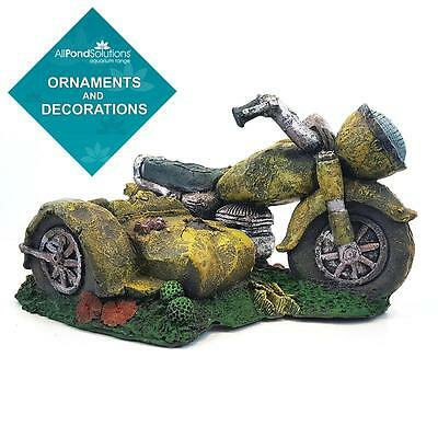 Motorbike / Motorcycle Fish Tank Aquarium Ornament Decoration - Opt. Air Pump