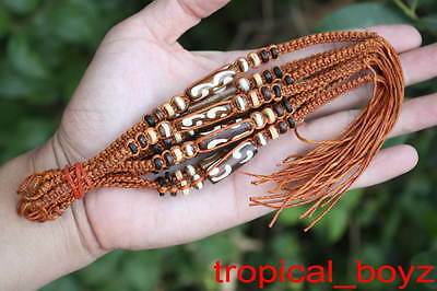 10 Handmade Brown Bone Wood Friendship Brown Bracelets Wholesale