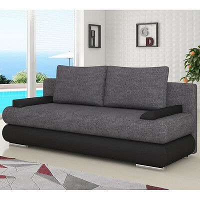 Sofa Bed MILO with Storage Container Sleep Function Bonell Springs New