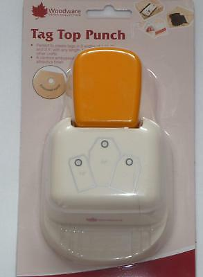 Woodware Punch Tag top Punch straight 1.5 or 2 or 2.5 inch gift tags  CP806