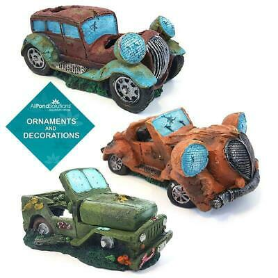 Aquarium Fish Tank Ornament Car / Jeep Decoration - Opt. Air Bubble Feature