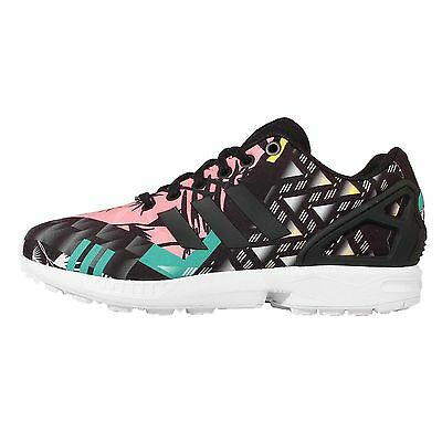 Adidas Originals ZX Flux W Black Floral Womens Running Shoes Trainers S74980