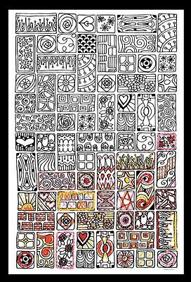 Design Works Cubist - Zenbroidery Fabric Pack Kit