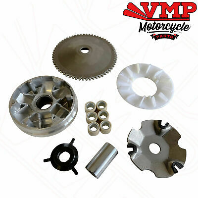 Drive Belt Variator Pulley Roller Set 139QMA 139QMB for GY6 QT9 Scooters