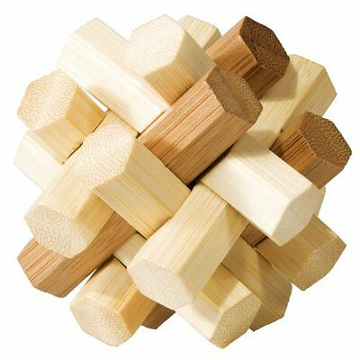 Fridolin 17494 Puzzle Brainteaser Double Knot Bamboo