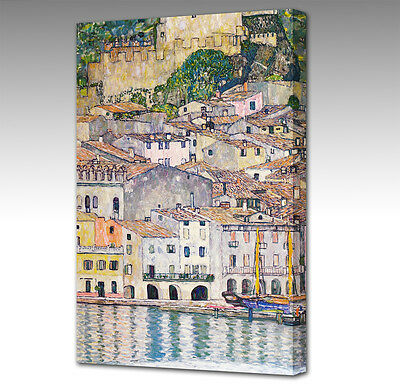 Gustav Klimt Malcena At The Gardasee Italy Large A3 Canvas Art Picture Print