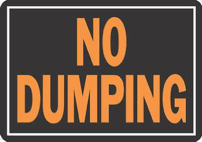 "Hy-Ko Prod 833 Sign, ""No Dumping"", Hy-Glo Aluminum, 10 x 14-In. - Quantity 1"