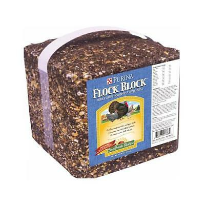 Land O'lakes Purina Feed 0063250 Flock Block Poultry Supplement, Whole Grain