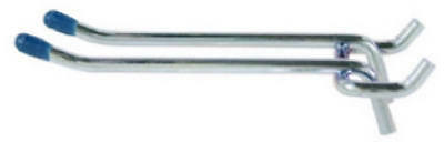 Lehigh Group/Crawford Prod 14444 4-Inch Double-Prong Heavy-Duty Pegboard Hook, 2