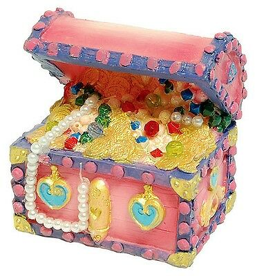 Pink Princess Treasure Chest Aquarium Ornament Fish Tank Decoration