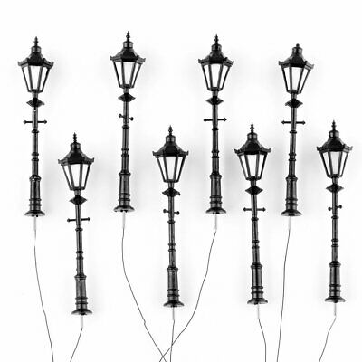 8pcs 1:25 Model Railway Led Lamppost Lamps Street Lgihts G Scale 3V New