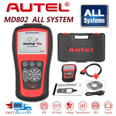 Autel MD802 4 System OBD2 Code Graphing Elite Mxidiag Diagnostic Tool Scanner