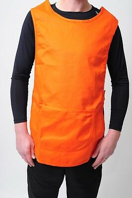 New Black Tabard,apron Cleaner Waitress Bar Staff Uniform Pocket In Multi Colour