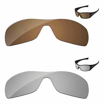 Silver Chrome & Copper Brown Polarized Replacement Lenses For-oakley Antix