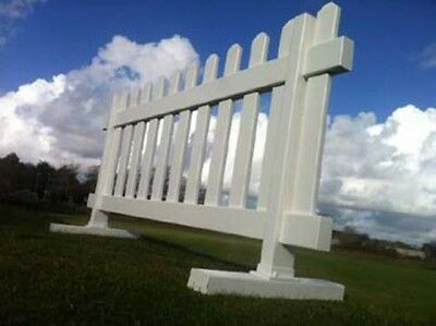 UPVC Fencing | Temporary Picket Fence | Free Standing | 900 x 1800 | 3' x 6'