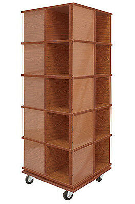 Revolving T-Shirt Display Tower Spinner Assembled Cherry Made In The USA NEW