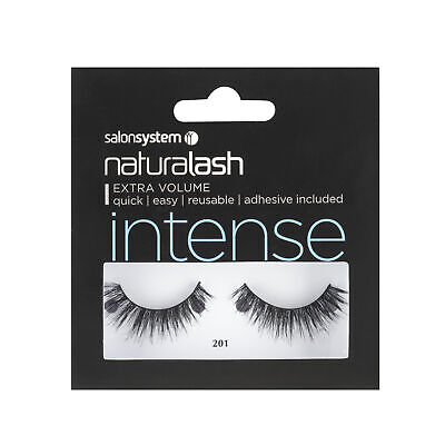 Salon System Naturalash 201 Black (Intense) Adhesive Included False Strip Lashes
