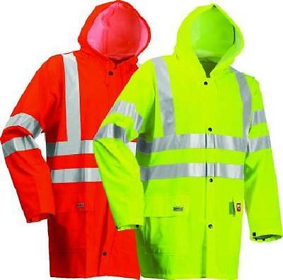 Lyngsoe FR-LR55 Men Jacket High Visibility Flame Retardant Waterproof Rain Coat